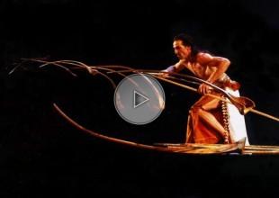 balance act, pieces of wood, wood stick, circus balance,