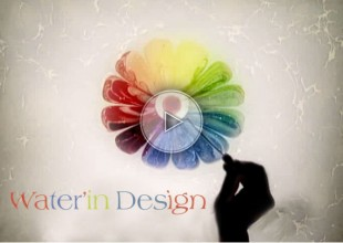 water design, water'in design, paint on the water, painting on the water, colors on the water, water painting